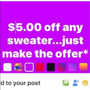 Other - $5.00 off any sweater